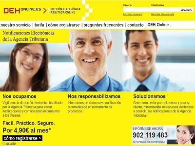 DEH Online permite la comunicación digital de la Agencia Tributaria con las empresas