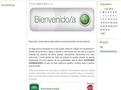 AJE Andalucía crea la Web de Autónomos Emprendedores