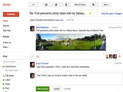 Google mejora las notificaciones que se envían desde Google+ a Gmail
