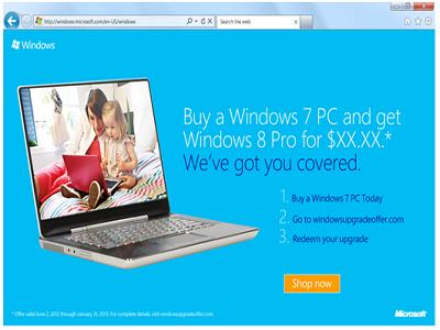 Microsoft prepara un programa de actualización para Windows 8