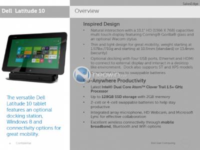 Nuevos detalles de la tablet profesional con Windows 8 de Dell