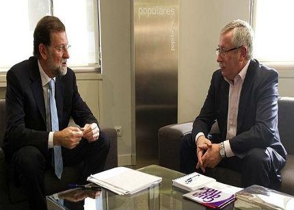 Los sindicatos se reúnen con Rajoy tras verse con Merkel