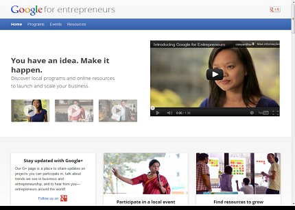 Google tiende la mano a los emprendedores con Enterpreneurs
