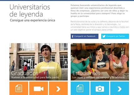 Microsoft busca en España Universitarios de Leyenda