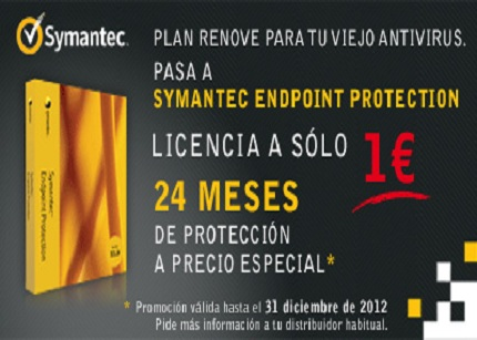 Plan renove por 1 euro de Symantec para pymes