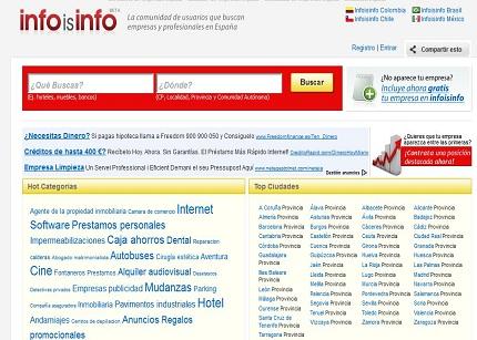 Infoisinfo conecta a empresas y profesionales