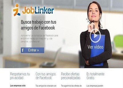 Joblinker ayudará a encontrar trabajo a los usuarios de Facebook