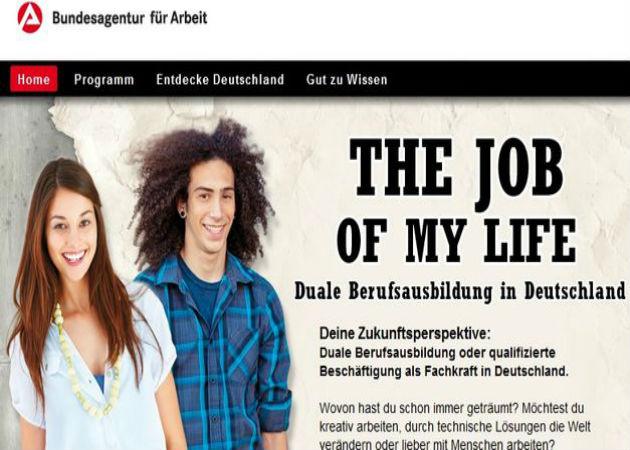 Alemania lanza una web para jóvenes desempleados de la UE