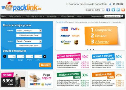 PackLink.es, el primer portal de comparación y contratación online de servicios de paquetería