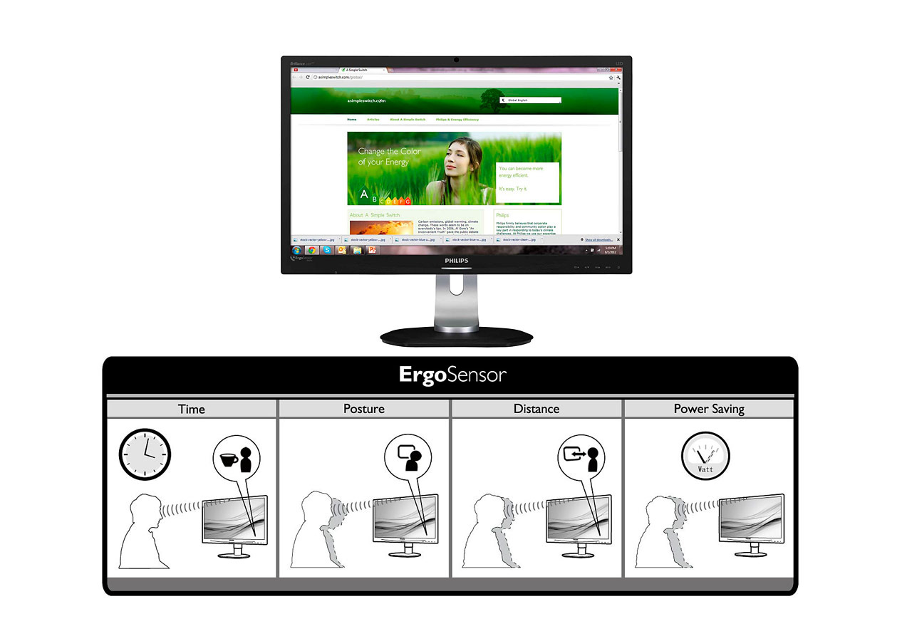philips ergosensor2 Philips Ergo Sensor 23: ergonomía para tu oficina