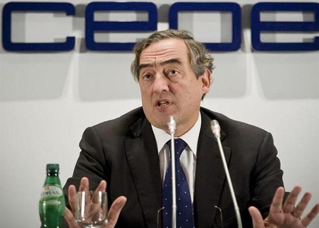 El presidente de la CEOE no cree las encuestas del INE sobre el paro