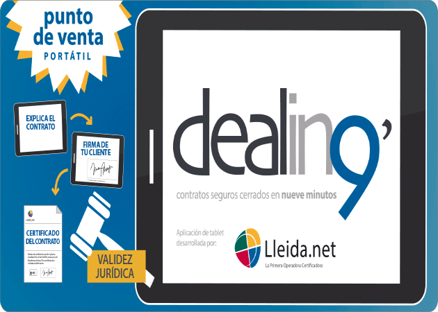 Cierra contratos desde tu tablet con Dealin9