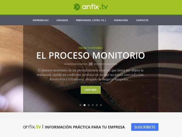 Nace anfix.tv, el canal audiovisual que ayuda a pymes, autónomos y emprendedores