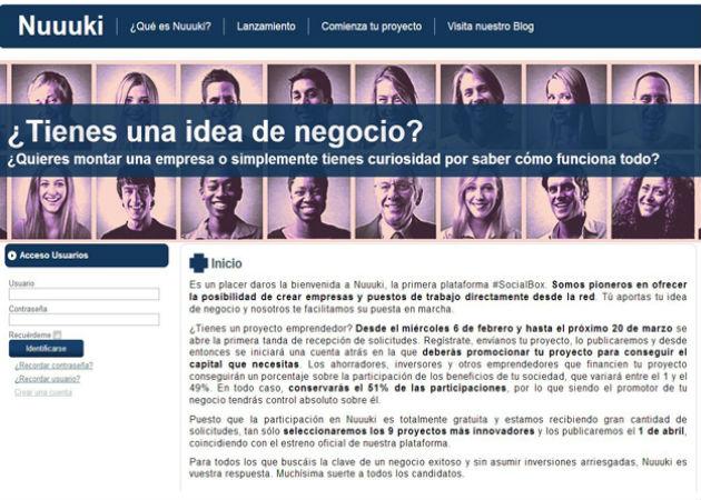 Nuuuki, primera plataforma online para financiar proyectos emprendedores