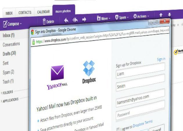Los usuarios de Yahoo! Mail tendrán Dropbox en su correo