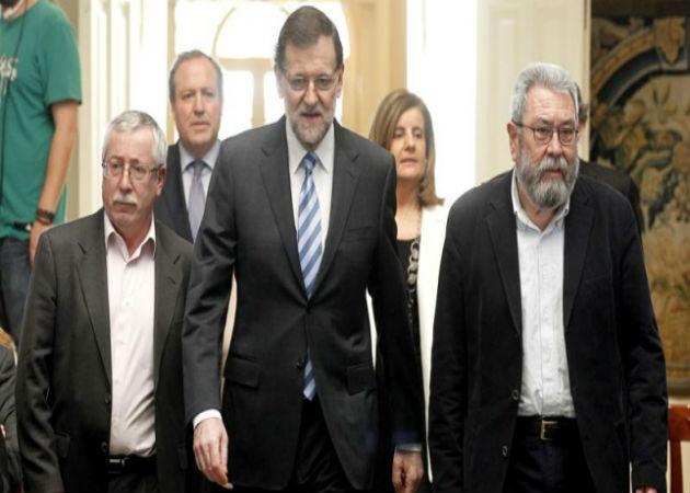 Los sindicatos se vuelven a entrevistar con Rajoy