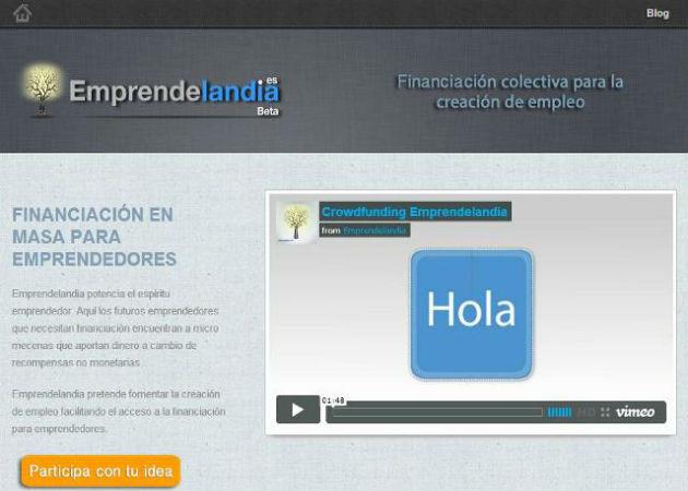 Emprendelandia.es, un espacio donde los emprendredores pueden crear sus campañas de crowdfunding