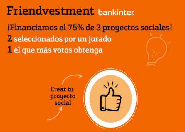 Bankinter pone en marcha el concurso Friendvestment para financiar a emprendedores sociales