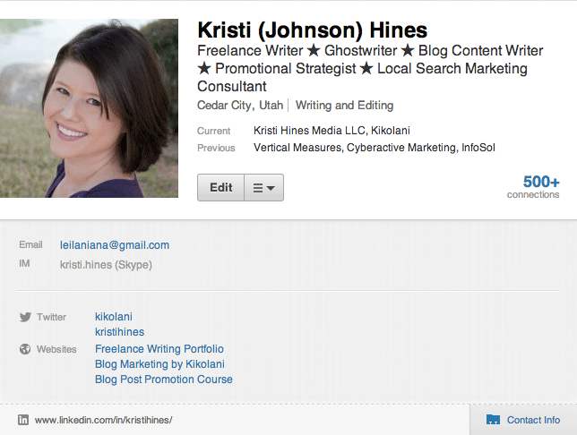 linkedin-links-on-profile