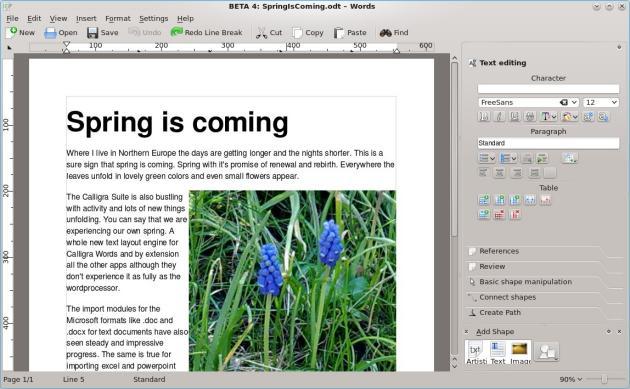 calligra_words_spring