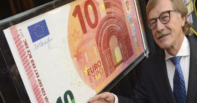 El BCE presenta el nuevo billete de 10 euros que entrará en circulación el 23 de septiembre