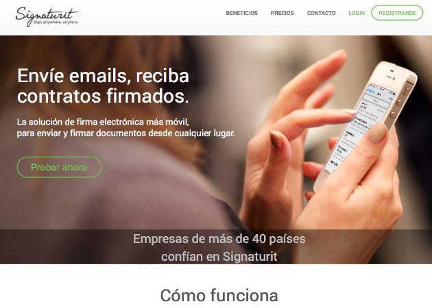 Signaturit permite firmar documentos con validez legal a través del correo electrónico