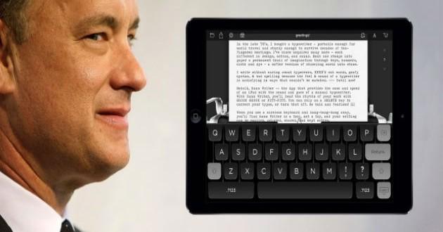 Tom Hanks presenta una app para iPhone que recrea una máquina de escribir