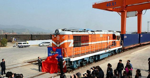 Parte a Madrid el primer tren directo de carga entre China y España
