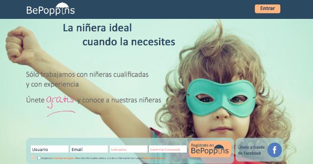 La startups BePoppins te ayuda a encontrar niñera