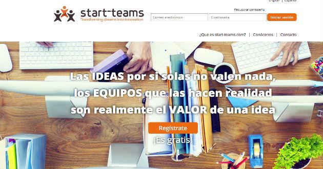 Encuentra emprendedores en Start-teams.com
