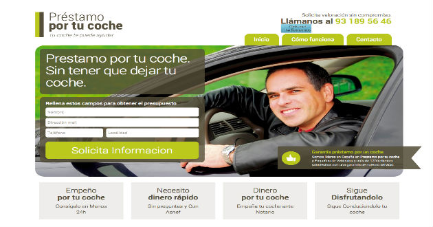 Nace la web Préstamo por tu coche