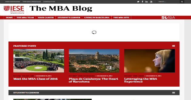 IESE Business School lanza un blog sobre su MBA