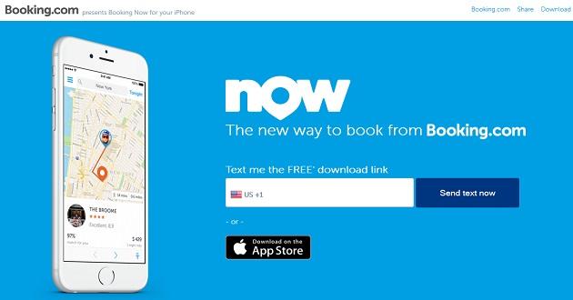 Booking lanza una app para reservar 48 horas antes del viaje
