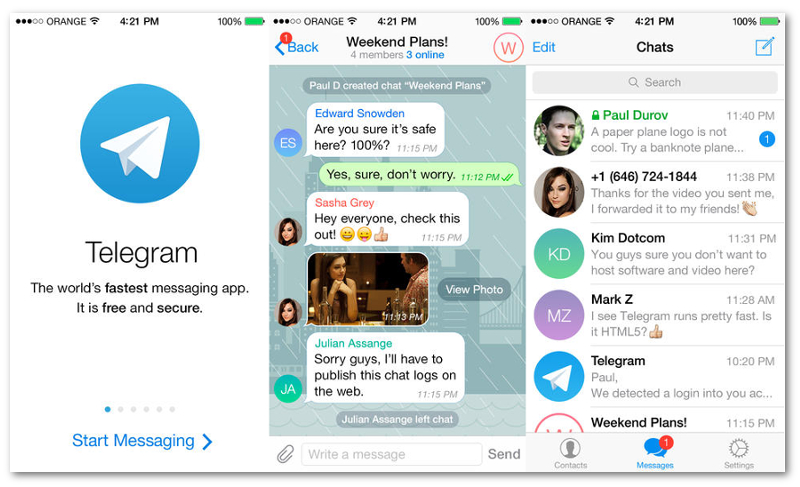 Telegram se presenta como la alternativa segura a WhatsApp