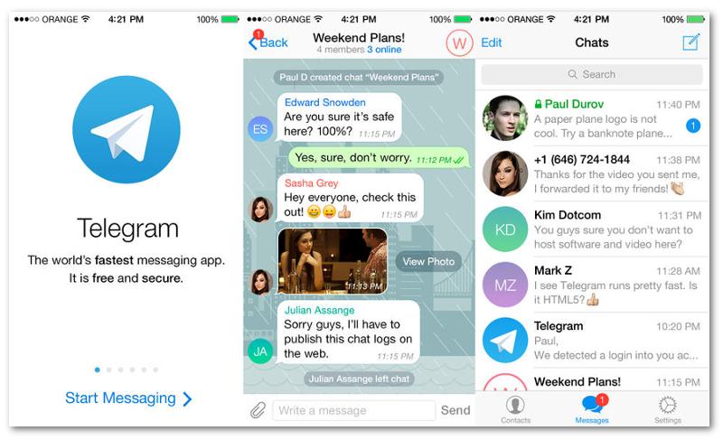Telegram se presenta como la alternativa segura a WhatsApp