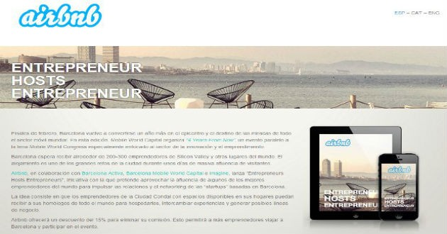 """Airbnb anuncia la segunda edición de """"Enterpreneur host Enterpreneur"""""""