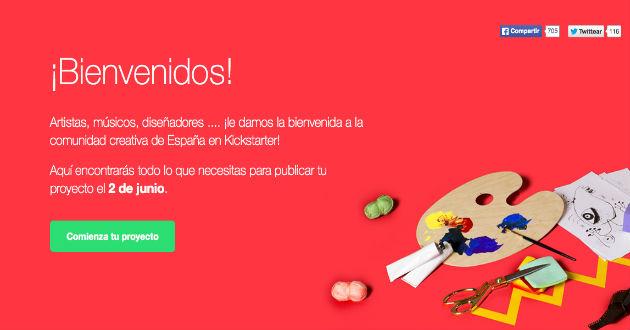 Kickstarter abrirá sus puertas en España el 2 de junio