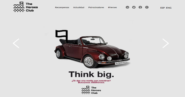 The Heroes Club lanza Think Big #500Héroes