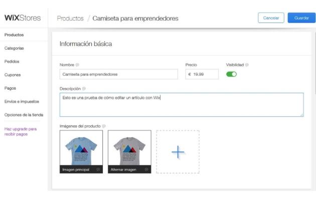 Cómo crear una tienda online en cinco minutos con Wix