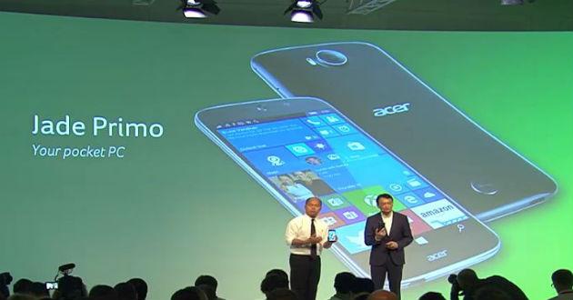 Jade Primo: el primer PC+móvil con Windows 10