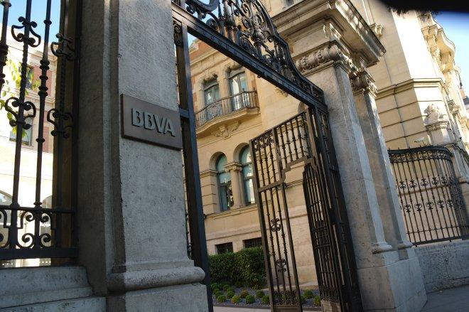 Entrada del Centro de Innovación del BBVA en Madrid
