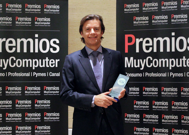 Recoge el premio Manuel Rubio, Director en EMEA de Desarrollo de Negocio Big Data de Hewlett Packard Enterprise