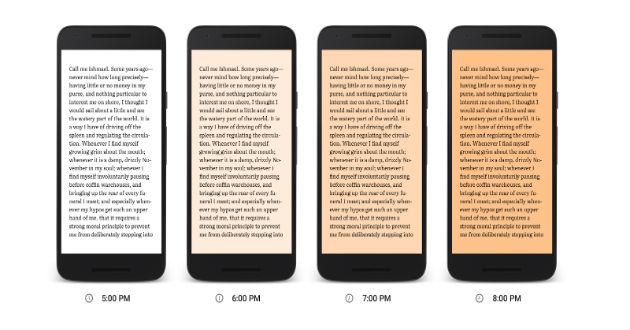 Google Play Books lanza Night Light para facilitar la lectura nocturna