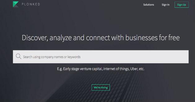Plonked, nuevo buscador para los negocios
