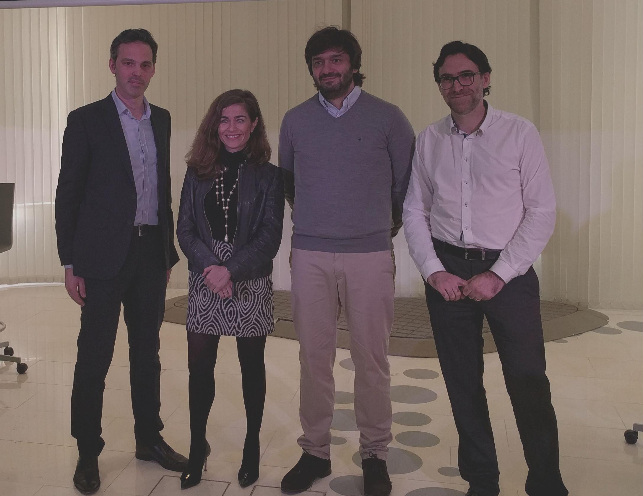 De izquierda a derecha: Paul de Fombelle (Mailify), Susana Voces (eBay), Álvaro Morón (BBVA), Bertrand Amaraggi (Prestashop)