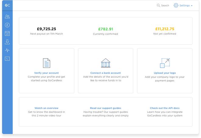 Desde el Dashboard de la aplicación podemos consultar en tiempo real qué pagos esperamos recibir