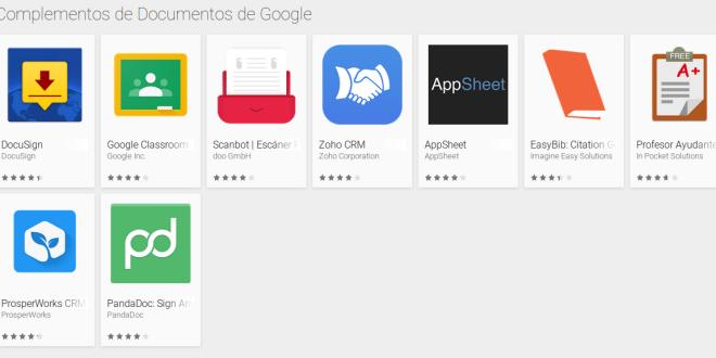 Android estrena sus complementos de Documentos de Google