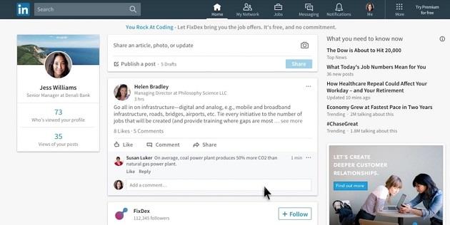 LinkedIn estrena su diseño más ambicioso hasta la fecha
