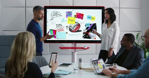 Pizarras inteligentes para oficinas modernas: Google Jamboard, Microsoft Surface Hub, Cisco Spark Board
