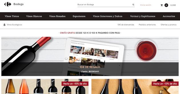 Carrefour mueve ficha: Lanza la mayor bodega online de España